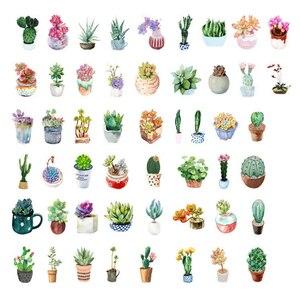 Image 2 - 20packs/lot sveglio serie di piante grasse autoadesivo etichetta della decorazione di DIY dress up per dairy album segnalibro allingrosso