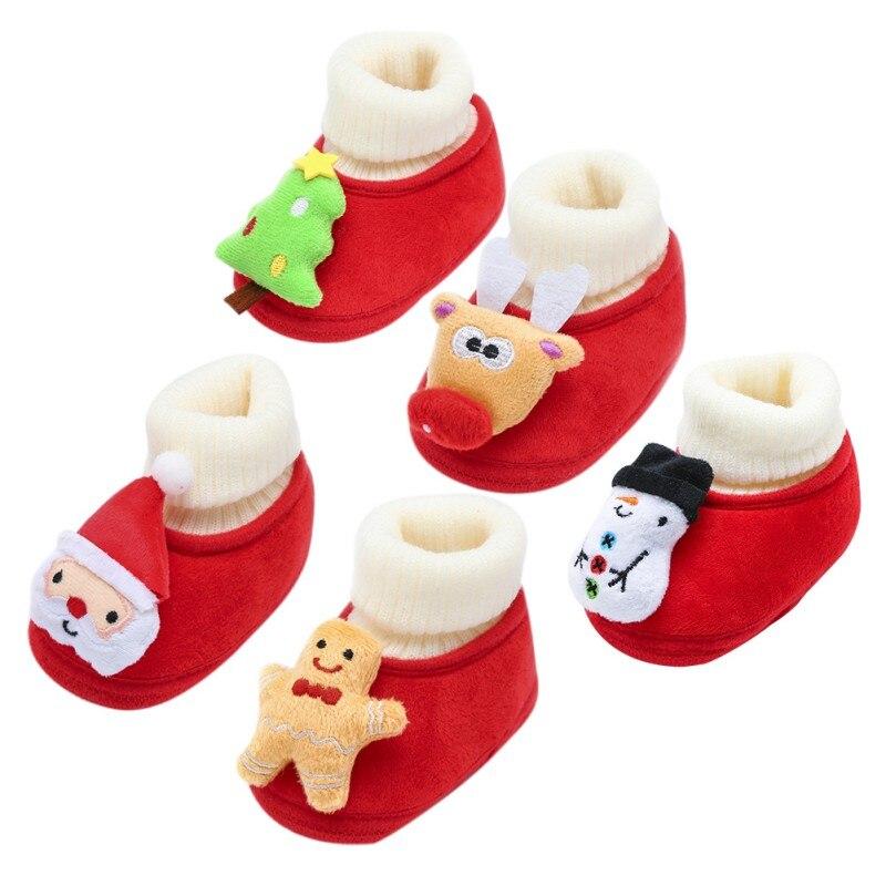 0-18 m תינוק פעוט נעלי חג המולד פלאפי כותנה תינוק חורף חם נעלי יילוד בייבי לפעוטות ראשון הליכונים נעלי N
