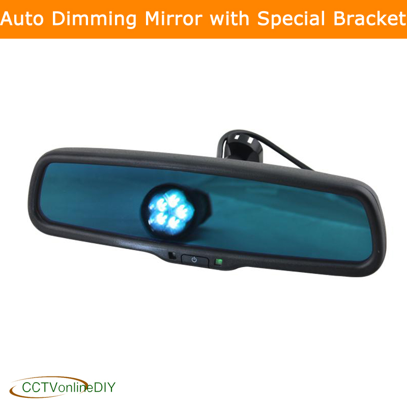 ANSHILONG Car Rear View Rearview Interior Auto Dimming Mirror con staffa speciale