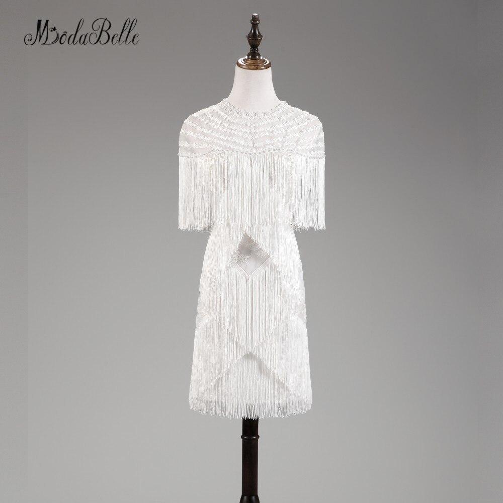 Modabelle Simpel gland Robes De Cocktail courtes dentelle perle femmes élégant genou longueur fête robe De bal 2018 Robes De Cocktail