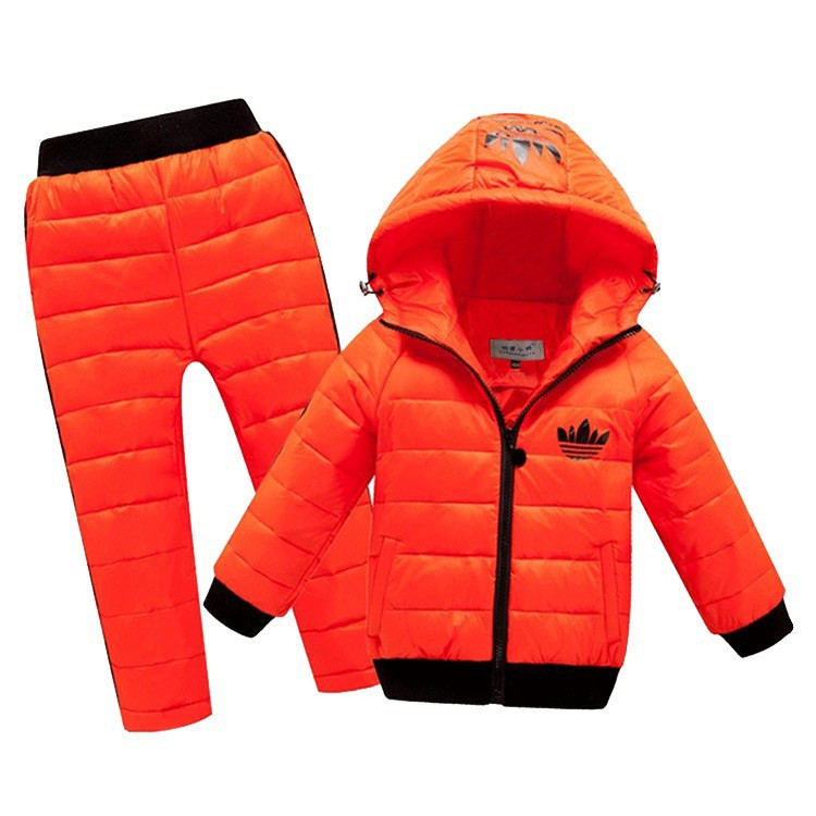 -New-Children-Boys-girls-Clothing-sets-2-8year-Hooded-Down-Jacket-Trousers-Waterproof-Snow-Warm (2)