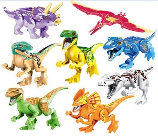 YE 77021 Building Blocks Jurassic World Park Figures Tyrannosaurs Rex Figures Dinosaur Bricks Model Christmas Gift Kids Toys 79151 lele jurassic dinosaur world tyrannosaurs rex model building blocks enlighten figure toys for children compatible legoe