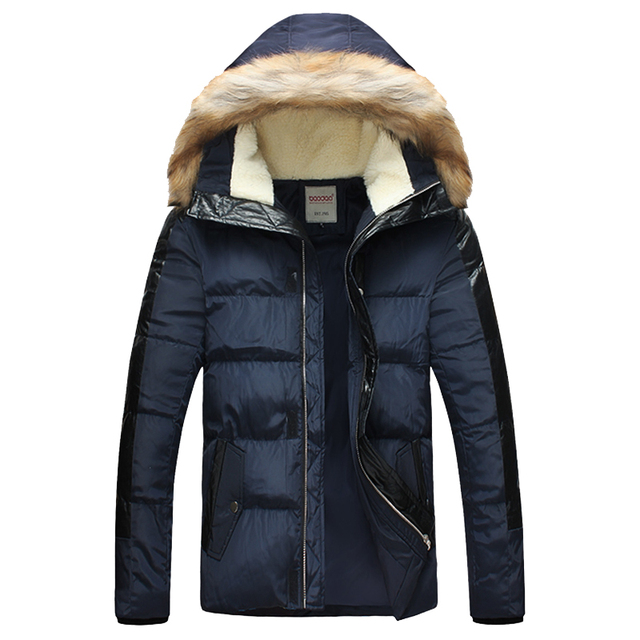 Mens Winter Parka With Fur Hood 2016 New Arrival Hooded Youth Fashion Plus Size 5XL Mens Winter Jacket And Coat MWM1196