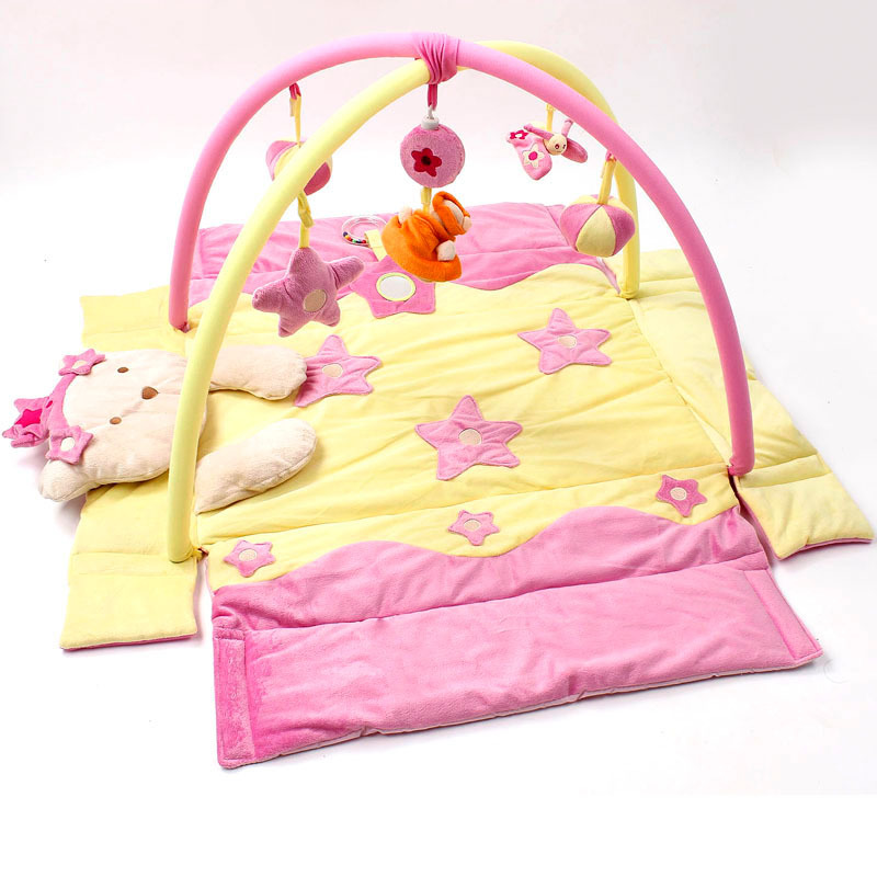 Ours kaki Bette princesse princesse musique chenille couverture tapis jeu Pad ramper Pad Puzzle jouets tapis gym tapis cadeau étoile kt chat