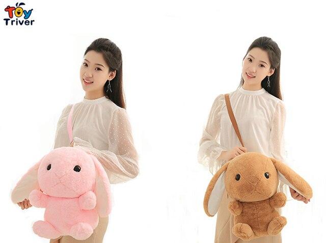 Kawaii pluszowe królik koc zabawki wypchane lalka zwierzę królik torba szkolna plecak dziecko dzieci dzieci Mama prezent urodzinowy
