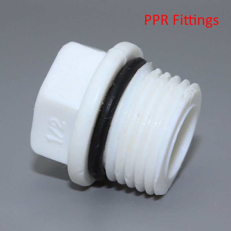 Factory direct quot ppr pipe thread plug by injection mold