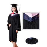 Master's Degree Gown Bachelor Costume Cap University Graduates Clothing Academic Gown College Graduation Clothing Robe Apparel