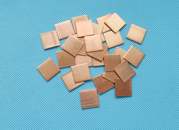 50pcs 15*15*0.8mm 15x15x0.8mm Copper Heatsink thermal Pad for Laptop GPU CPU Radiating Copper Heat Sink Cooling Accessories image