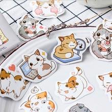45 Pcs/box Cute kawaii my meow paper sticker DIY decoration stickers diary photo album scrapbooking planner label stickers недорого