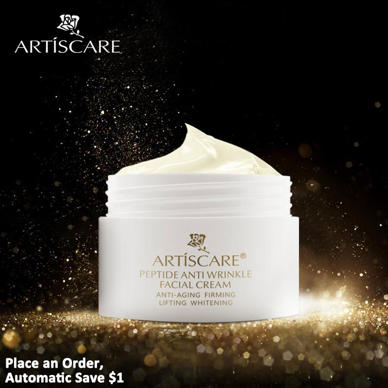 ARTISCARE Peptide Anti Wrinkle Facial Cream Whitening Lifting Day Cream Skin Care Anti Aging Acne Treatment Firming Face Cream meiking face cream hydrating whitening day creams acne anti aging wrinkle collagen whitening facial cream brighten skin care 50g