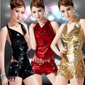 deguisement adultes 2017 sexy carnival costumes black Gold red sexy leather outfits tassel dance costume women
