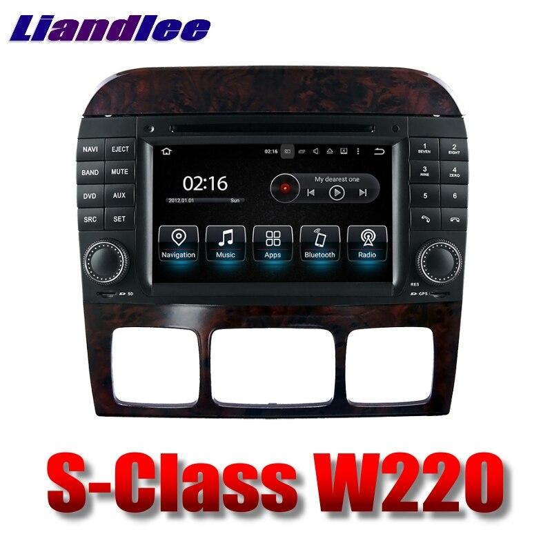 Lecteur multimédia de voiture Liandlee NAVI pour Mercedes Benz S W220 1998 ~ 2005 système d'écran tactile Radio TV DVD stéréo GPS Navigation