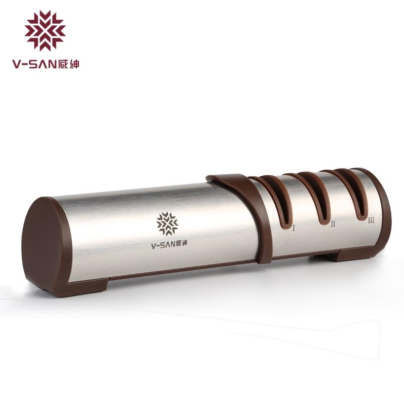 V-SAN асханалық көп функциялы пышақ қайрайтын алмаз пышақ құралдары Тегістеу дөңгелегі бар машиналар TAIDEA
