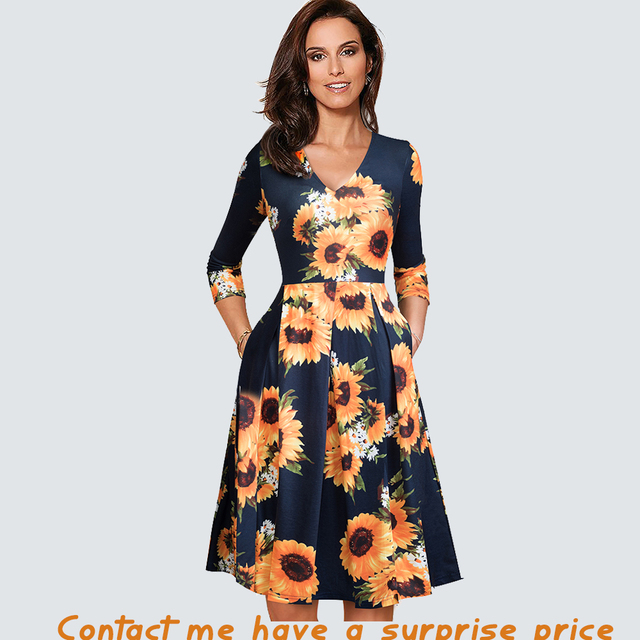 Women Vintage  Casual Dress