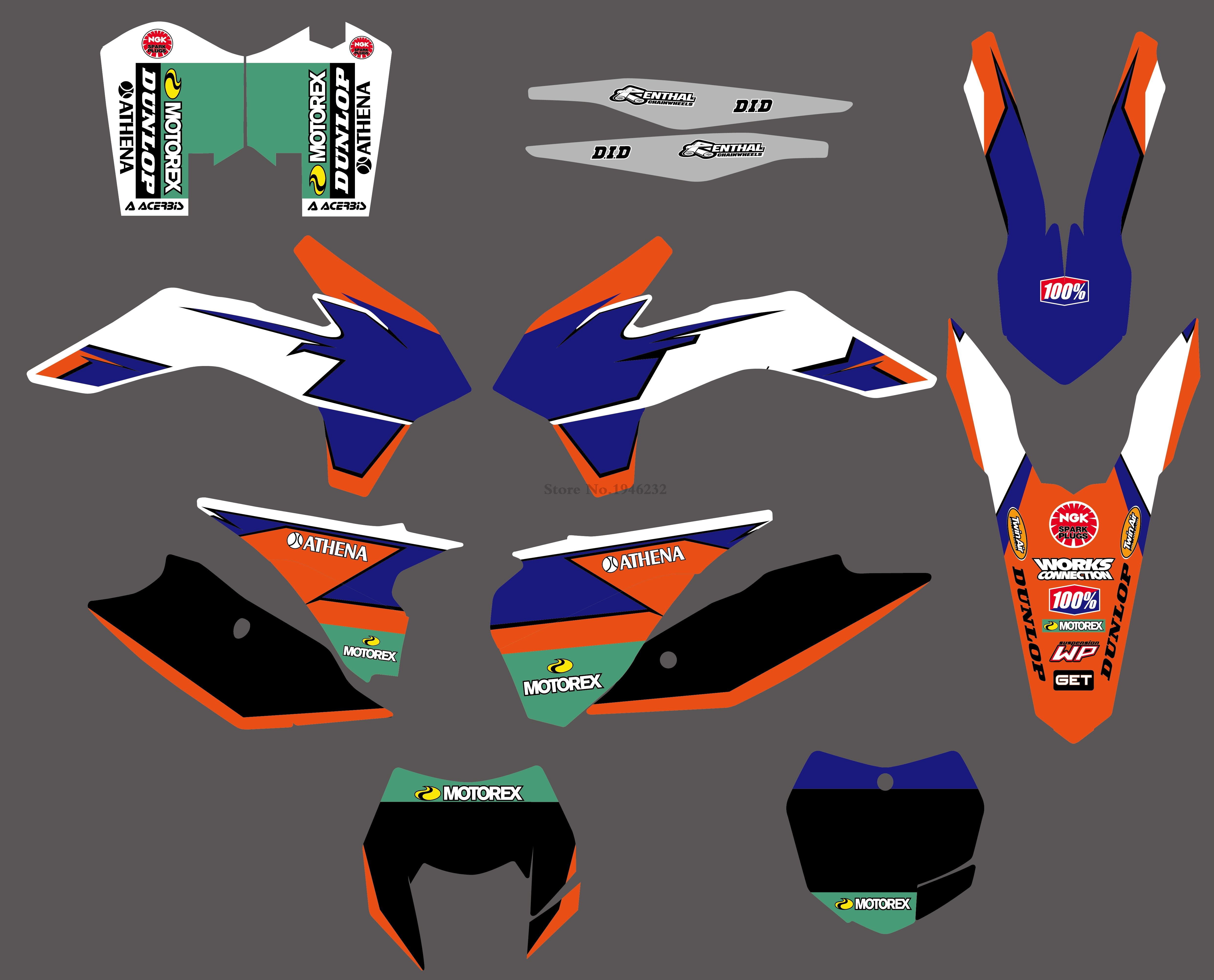 H2CNC 6 Styles Bull Rockstar Team Graphics Decals Stickers For KTM 125 200 250 300 450 500 EXC XCW XCF XCFW EXCF 2014 2015 2016 cnc stunt clutch lever easy pull cable system for ktm exc excf xc xcf xcw xcfw mx egs sx sxf sxs smr 50 65 85 125 150 200 250