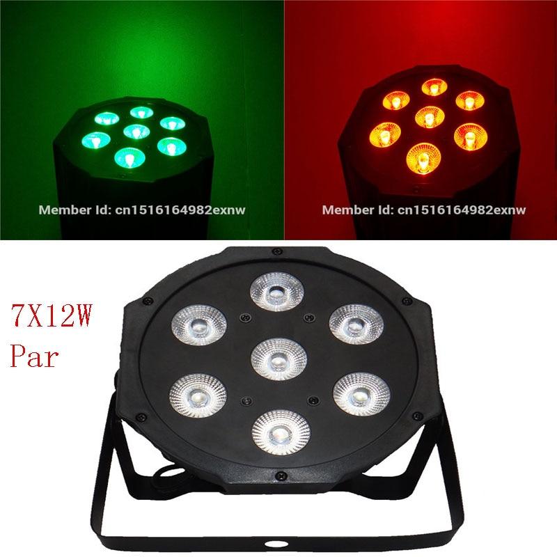 7x 12W RGBW DMX Stage Lights Business Lights Led Flat Par High Power Light with Professional for Party KTV Disco DJ EU женское платье none 2015 o a2043