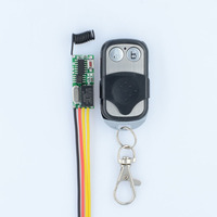 Wireless RF Remote Control Switch System Mini Small Volume Receiver 315 433MHZ Waterproof Transmitter Micro 3v