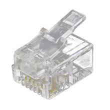 4 Pin RJ11 6P4C Connector Plug for Handset Cable 4 Pcs 2 pcs 7m rj9 4p4c plug coiled stretchy phone handset cable line white
