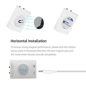 Image 5 - USB Rechargeable Motion Activated Bed Light, PIR Sensor & Manual mode LED Strip Under Cabinet Lighting with Auto Shut Off Timer
