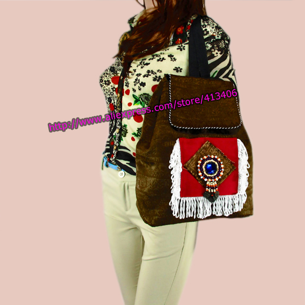 Tribal Vintage Hmong Thai Thai Indian Ethnic Boho hippie ეთნიკური ჩანთა, rucksack backpack bag SYS-261