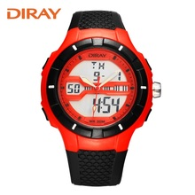 South Korea watch male fashion LED waterproof electronic table double display multi function outdoor sports electronic watch
