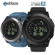 Zeblaze ساعة متصلة VIBE 3 ، ساعة ذكية ، مراقب 24 ساعة ، وقت استعداد 33 شهرًا ، لنظامي IOS و Android ، 2019