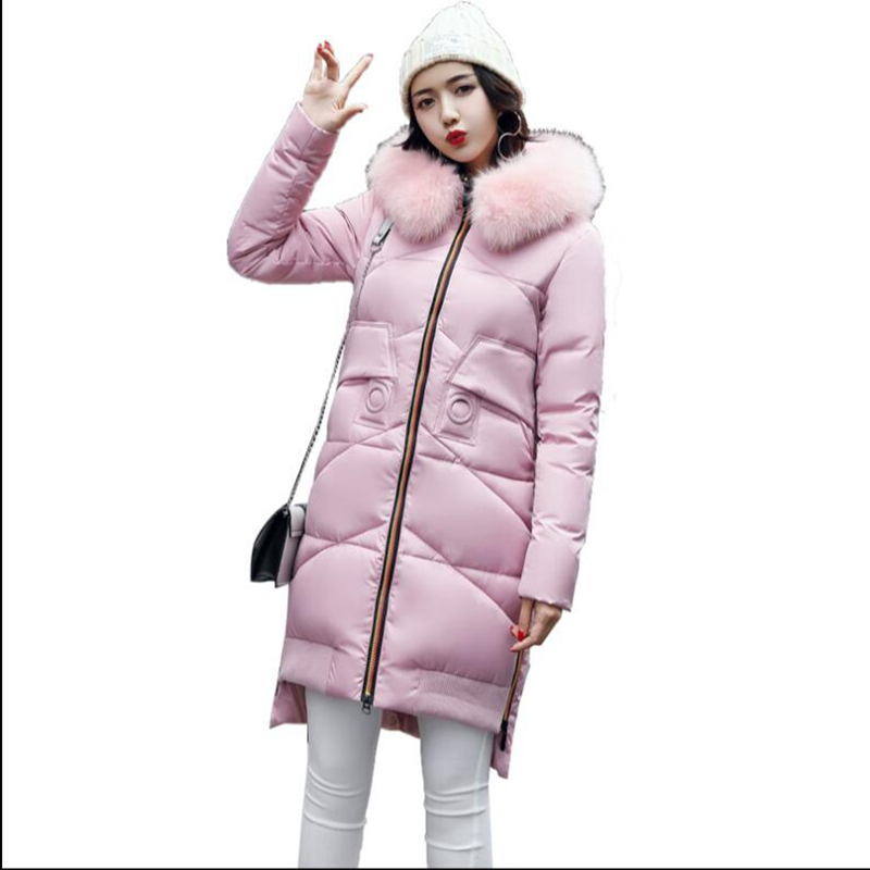2017 New winter women hooded coat fur collar thicken warm long jacket female plus size 3XL outerwear parka ladies высокие кеды quelle quelle 893704