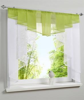 Rideaux en voile plissé pour fenêtre de cuisine