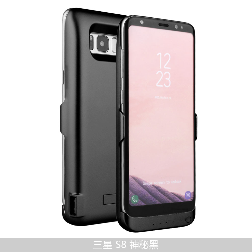 sale retailer e72cc d2c04 US $23.72 12% OFF|s8 Battery Case Charger For Samsung Galaxy S8 Plus Case  Power Bank Charge Slim Thin Charger Cover External Battery Backup Extra-in  ...