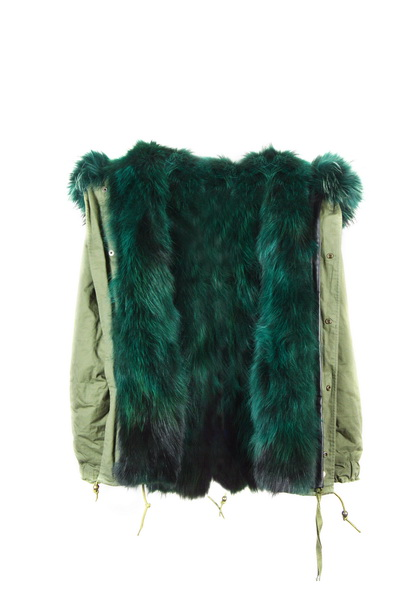Aliexpress.com : Buy High fashion army green parka with real fur ...
