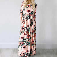Verão maxi vestido feminino 2019 rosa floral impressão boho vestido de praia senhoras festa à noite vestido longo vestidos de festa 3xl
