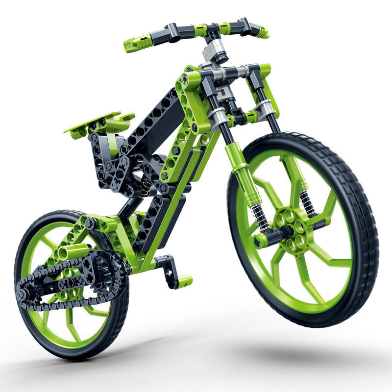 Model building kits compatible with lego city bicycle mtb bike 165Pcs 3D blocks Educational model building toys