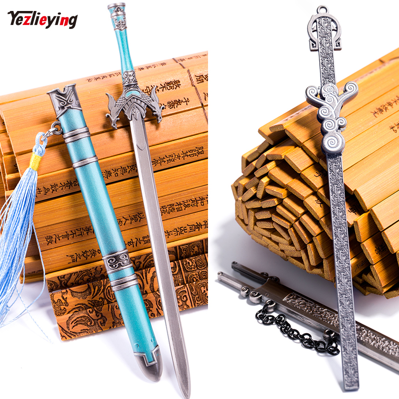 1/6 Scale Ancient soldier metal Alloy cold weapon model swords Toys military accessories Days evil+Mexican eyebrow sword Set ...