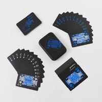 Высокое качество металлическая коробка ПВХ Черный покер водоотталкивающие игральные карты Новинка коллекция подарок прочный стойкость