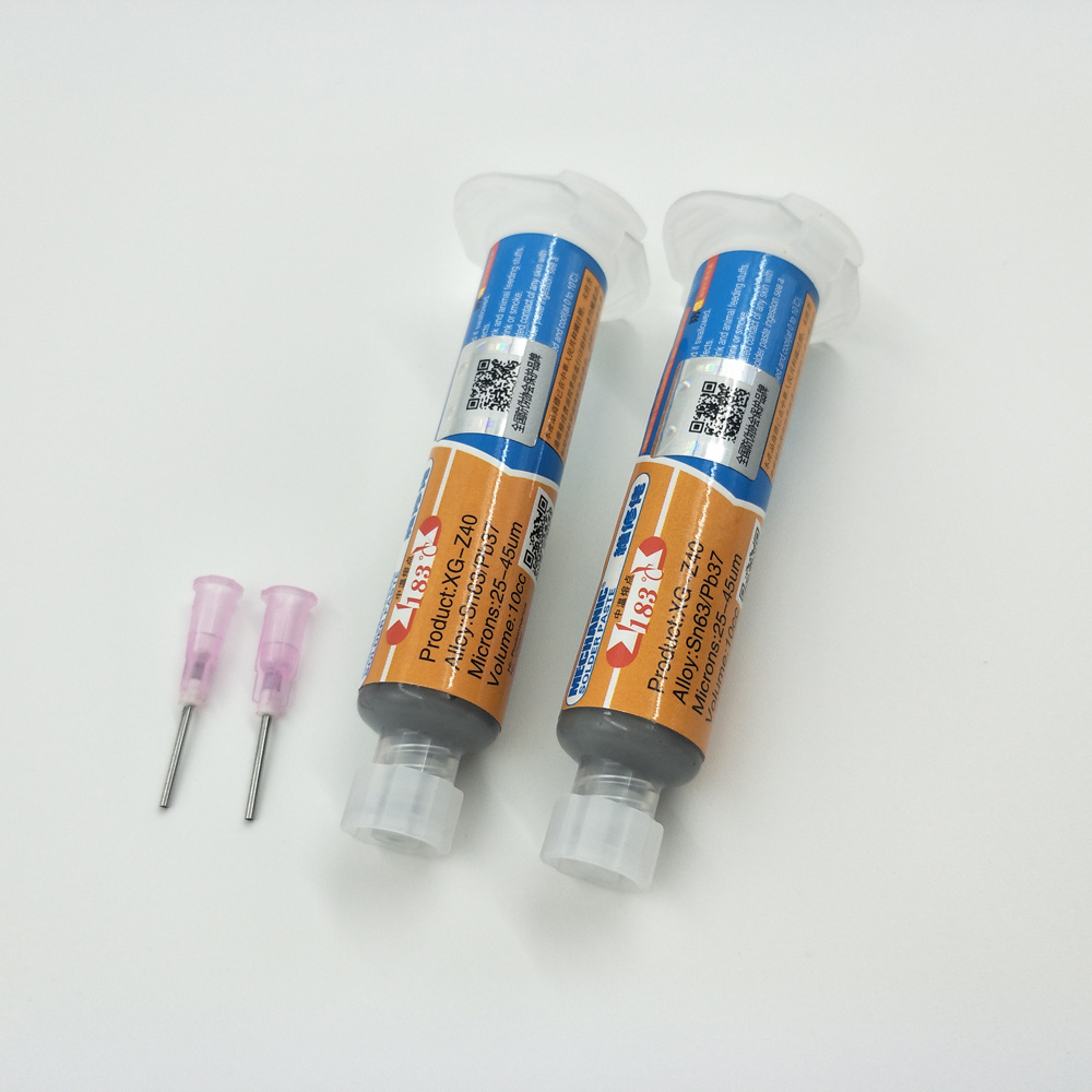 2pcs 10CC Mechanic Tin XG-z40 Solder Paste Flux Sn63/Pb37 25-45um Syringe For PCB SMD Mobile Phone Repair XG Z40
