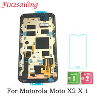 For Moto X+1 X2 LCD Display XT1092 XT1095 XT1097 Touch Screen Panel Assembly With Frame Replacement Parts Free Shipping 5.2inch