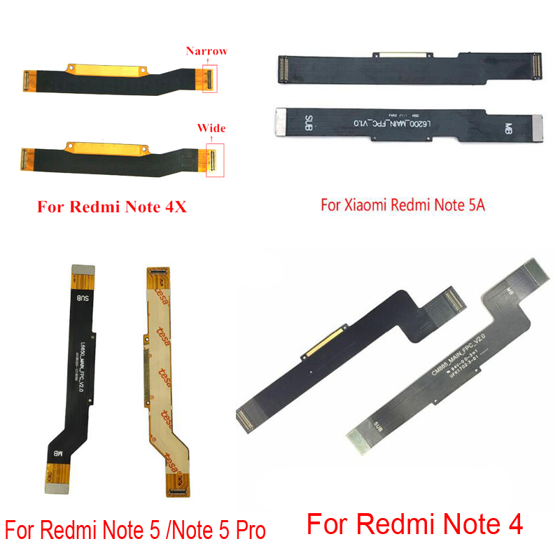 Replacement Parts Main Board <font><b>Motherboard</b></font> Flex Cable Ribbon For <font><b>Xiaomi</b></font> <font><b>Redmi</b></font> <font><b>Note</b></font> 2 3 4 <font><b>4x</b></font> 5 6 7 Pro 5A LCD Connector Ribbon image