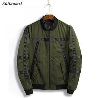 Bomber Jacket Men Harbor Pilots Jacket Casual Spliced Patch Jacket Male Thicker Coats Green Military Tactical