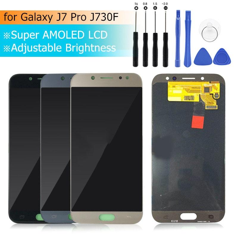 Pour Samsung Galaxy J7 Pro 2017 J730F LCD écran tactile numériseur assemblée pour J730G/DS LCD affichage pièces de rechange