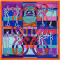 130 * 130 Knight Equestrian thicken silk scarf square scarf