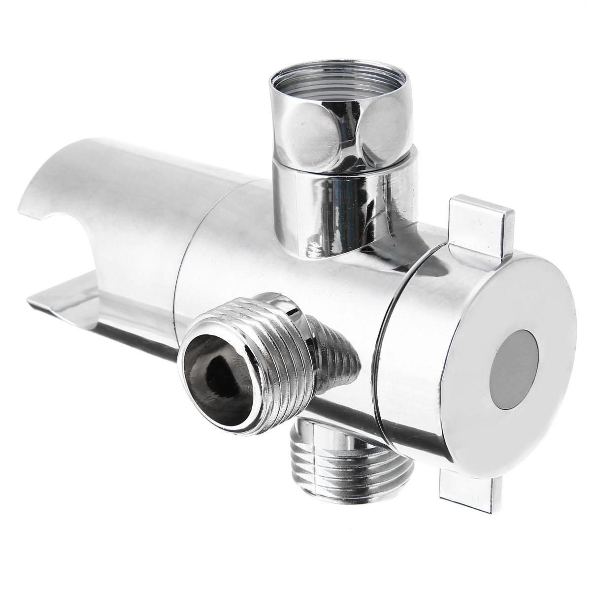Us 3 55 40 Off Fix Bracket Abs Bathroom Shower Head Diverter Sprayer Arm Mount 3 Way Valve For Bathroom Hardware In Shower Heads From Home