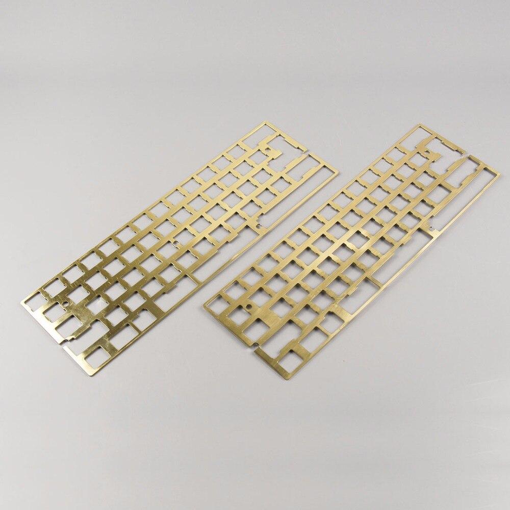 KBDfans Новое поступление hairline отделка латунь 60 пластина diy механическая клавиатура