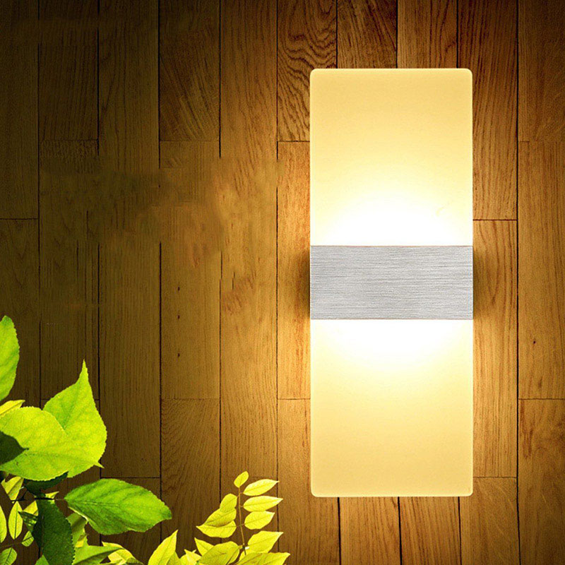 LED Wall Light-up Down Cube Indoor Outdoor Sconce Lighting Lamp Fixture Decor DAG-ship