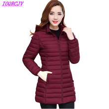 Down cotton Jackets for Womens 2019 Autumn Winter Hooded Par