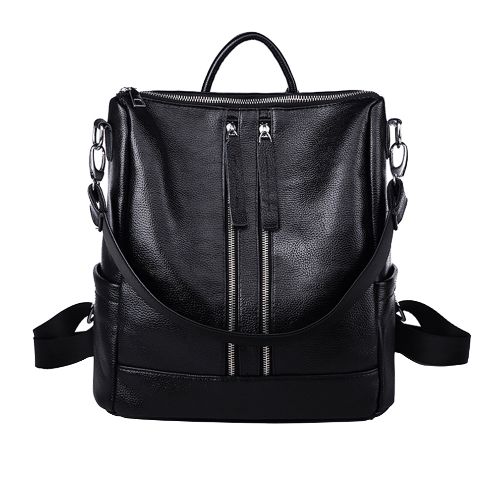 New Fashion Simple Women Backpack Preppy Style School Bag for Teenage Girl's Daily Bag Medium Size Soft Leather Backpacks