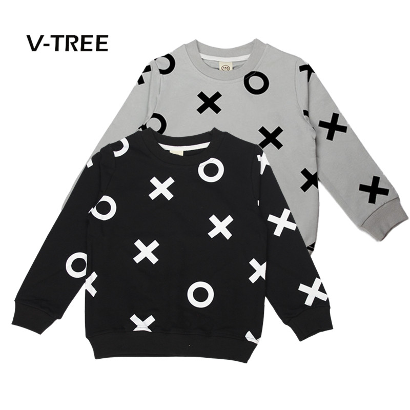 V-TREE Baby Girls Boys Outwear Cotton Children Infant T Shirt Sweatshirt Baby Boys Sweater Baby Boys Clothes Tops 2-6Y