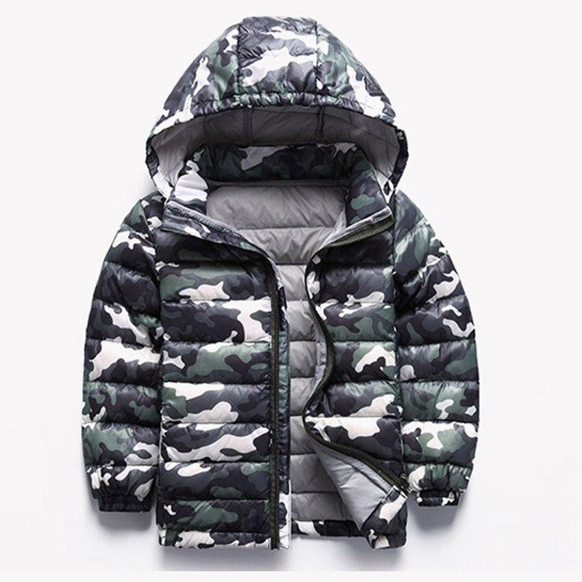 Children Jackets Winter Boys Coats Camouflage Down Jackets For Kids Girls A 2 12 Years Children