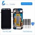 LL TRADER Highscreen Для HTC One M8 ЖК-Дисплей с Сенсорным Экраном Ассамблея Черный Полный Запасные Части Планшета С Рамкой + Наборы Инструментов
