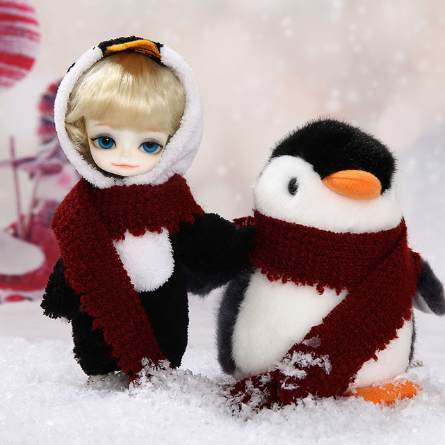 Free Shipping Withdoll Pooky Penguin BJD SD Dolls Yosd 1/8 Body Model Baby For Gift including clothes for fullset  OUENEIFS