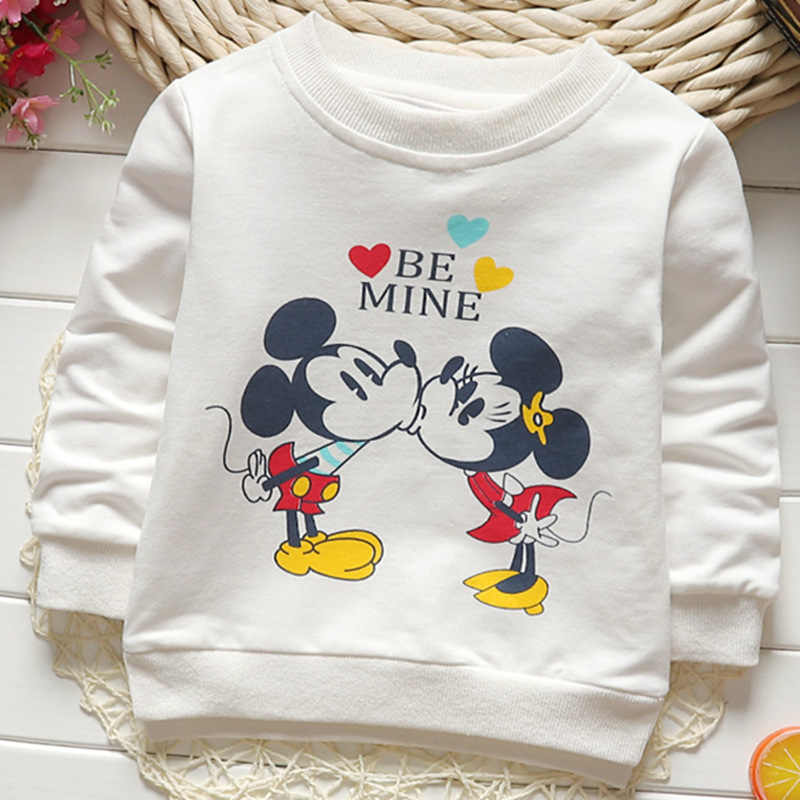 15cfa9bc7 2018 Medium And Small Children Mickey Mouse Fashion Print Children's  Clothing Long-Sleeved Round Neck
